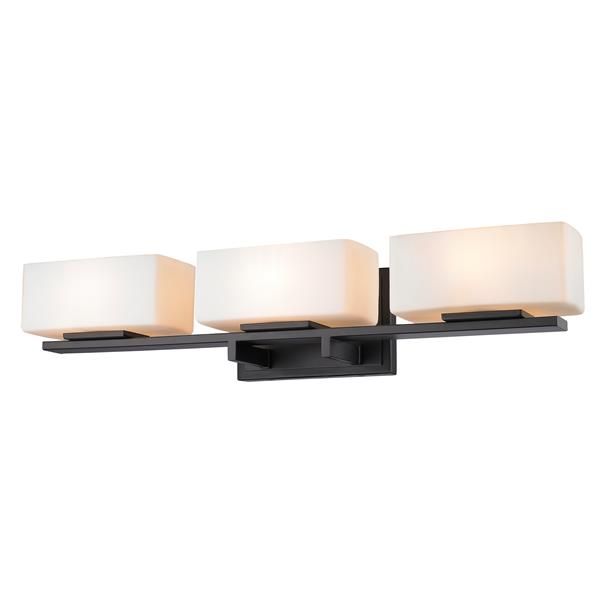 Applique pour salle de bain Kaleb, 3 lumières, bronze