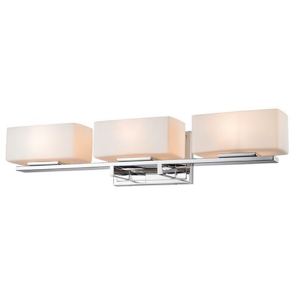 Applique pour salle de bain Kaleb, 3 lumières, chrome