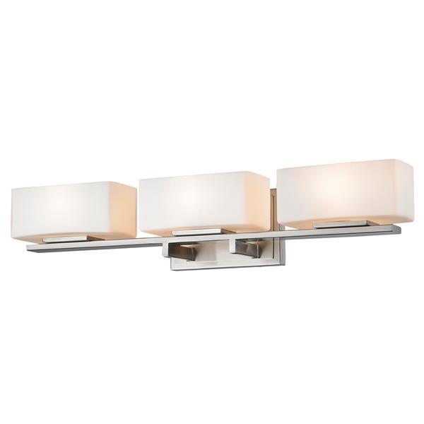 Z-Lite Kaleb 4.87-in x 25-in Brushed Nickel 3-Light Vanity Light