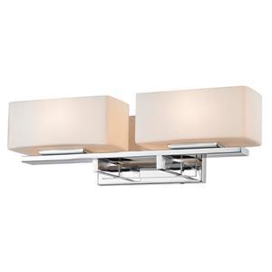 Applique pour salle de bain Kaleb, 2 lumières, chrome