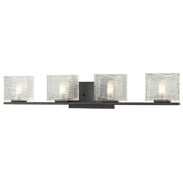 Z-Lite Jaol 31.12-in x 5.62-in Bronze 4-Light Vanity Light