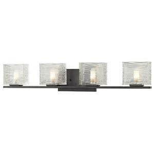 Applique pour salle de bain Jaol, 4 lumières, bronze