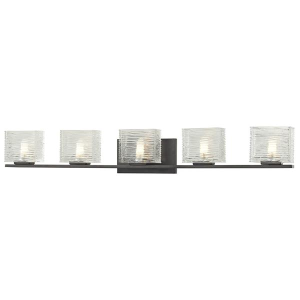 Z-Lite Jaol 39.75-in x 5.62-in Bronze 5-Light Vanity Light