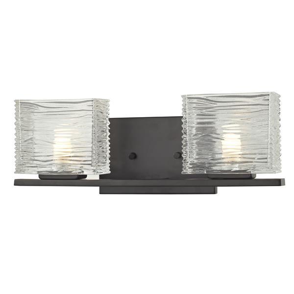 Z-Lite Jaol 7.12-in x 5.25-in Bronze 2-Light Vanity Light