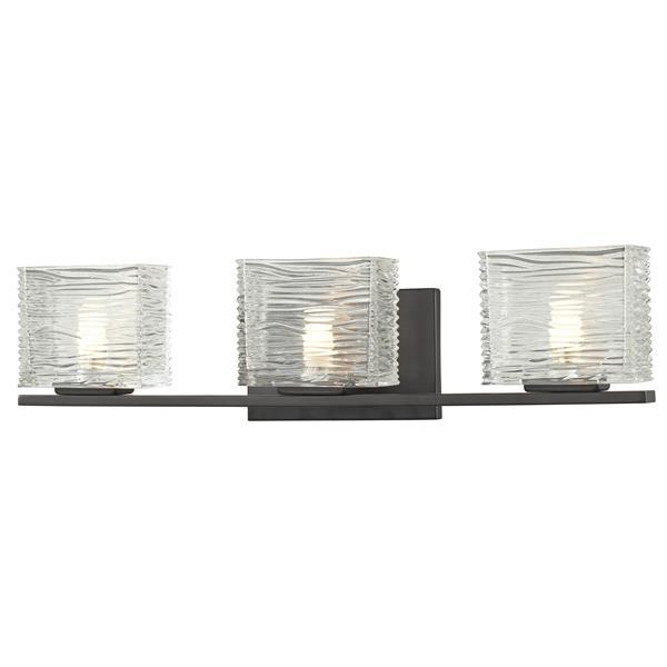 Z-Lite Jaol 22.50-in x 5.62-in Bronze 3-Light Vanity Light