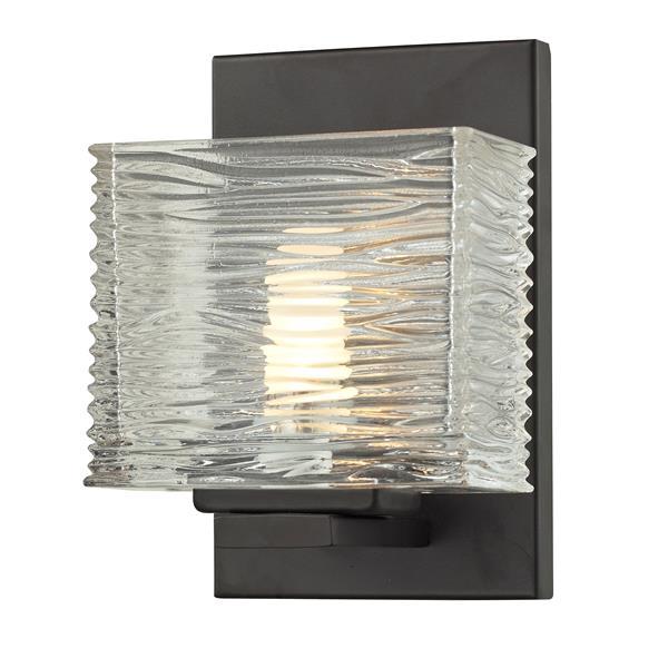 Z-Lite Jaol 7.12-in x 5.25-in Bronze 1-Light Vanity Light