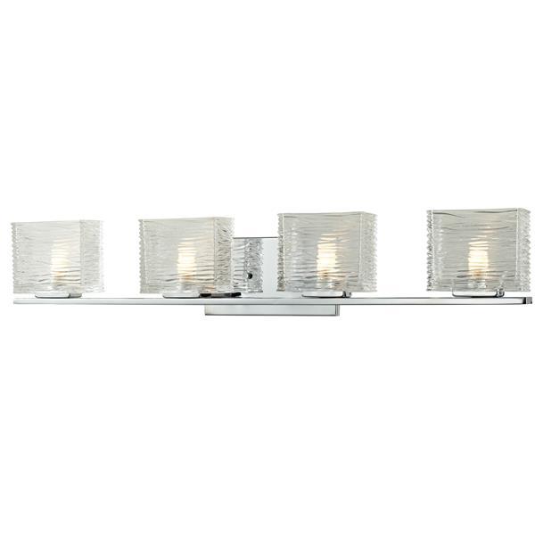 Z-Lite Jaol 31.12-in x 5.62-in Chrome 4-Light Vanity Light