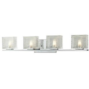 Z-Lite Jaol 31.12-in x 5.62-in Chrome 4-Light Vanity Light