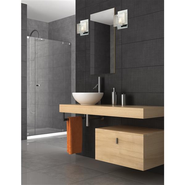 Applique pour salle de bain Jaol, 1 lumière, chrome