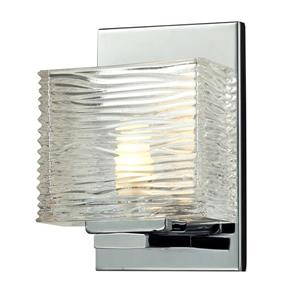 Z-Lite Jaol 7.12-in x 5.25-in Chrome 1-Light Vanity Light