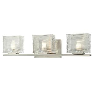 Z-Lite Jaol 22.50-in x 5.62-in Brushed Nickel 3-Light Vanity Light
