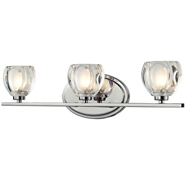 Z-Lite Hale 5.75-in x 21-in Chrome 3-Light Vanity Wall Light