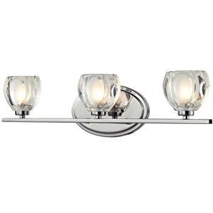 Applique pour salle de bain Hale, 3 lumières, chrome