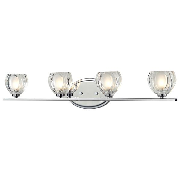 Z-Lite Hale 5.75-in x 29.25-in Chrome 4-Light Vanity Wall Light