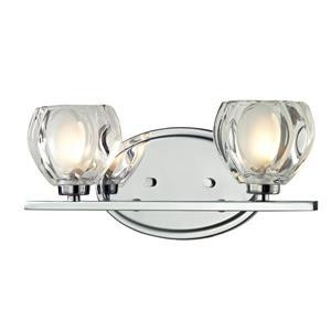 Applique pour salle de bain Hale, 2 lumières, chrome