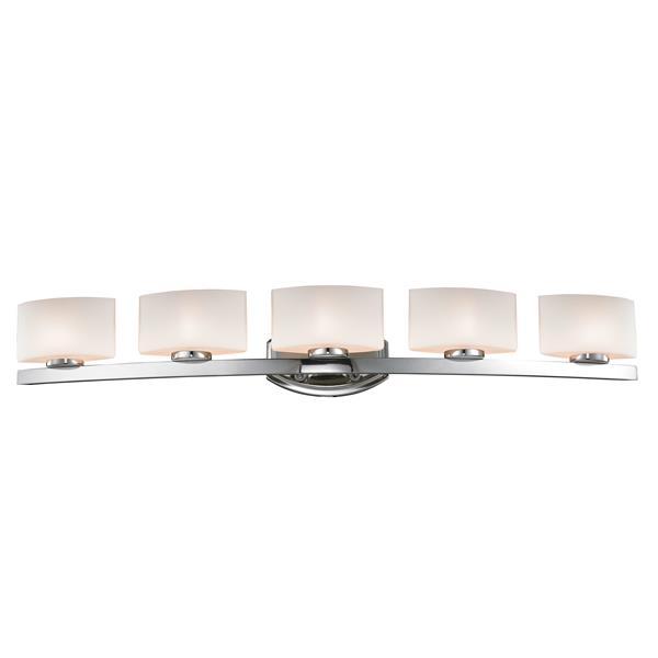 Z-Lite Galati 6.87-in x 5.87-in 5 Light Chrome Vanity Light