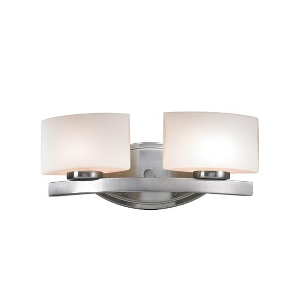Z-Lite Galatia 2- Light Brushed Nickel Vanity Light