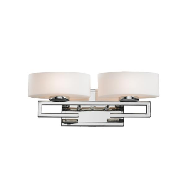 Z-Lite Cetynia Chrome 2 Light Bathroom Vanity Light