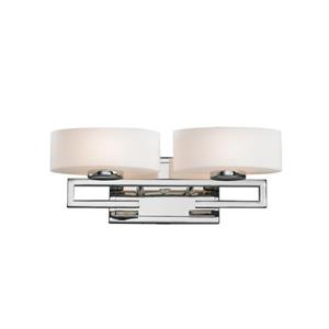 Z-Lite Cetynia Chrome 2 Light Bathroom Vanity Light