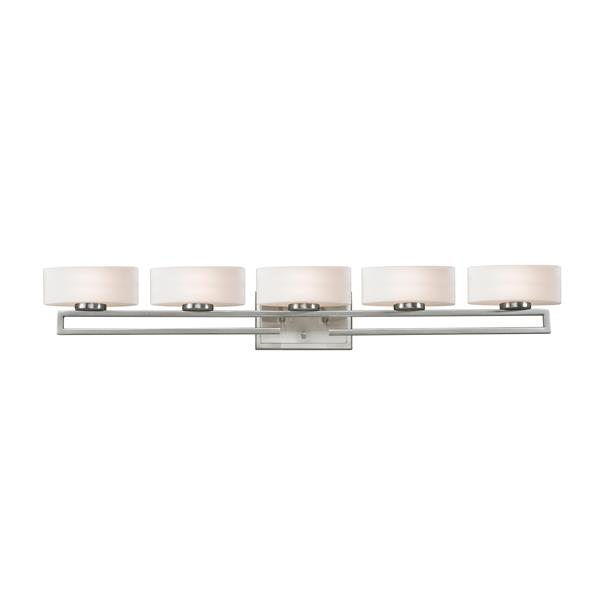 Z-Lite Cetynia Brushed Nickel 5 Light Bathroom Vanity Light