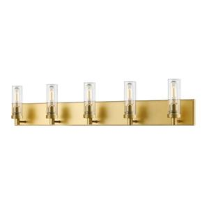 Z-Lite Persis 4.75-in x 8.12-in 5-Light Satin Gold Vanity Light