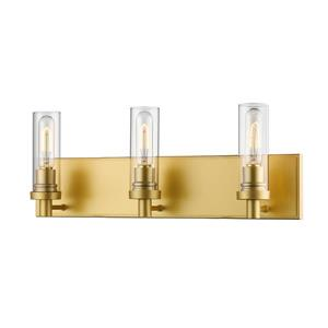 Z-Lite Persis 4.75-in x 8.12-in 3-Light Satin Gold Vanity Light