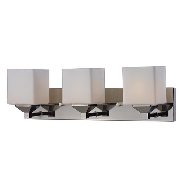 Applique pour salle de bain Quube, 3 lumières, chrome