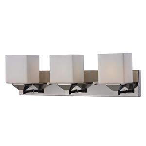 Z-Lite Quube 6-in x 6.75-in Chrome 3-Light Vanity Light