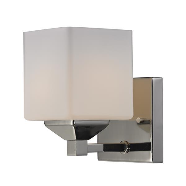 Applique pour salle de bain Quube, 1 lumière, chrome