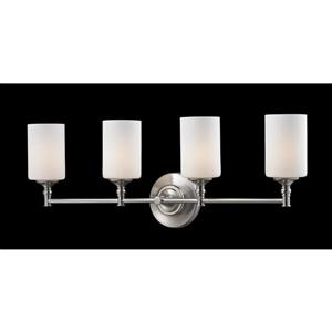 Z-Lite Cannondale 4-Light Brushed Nickel Vanity Light