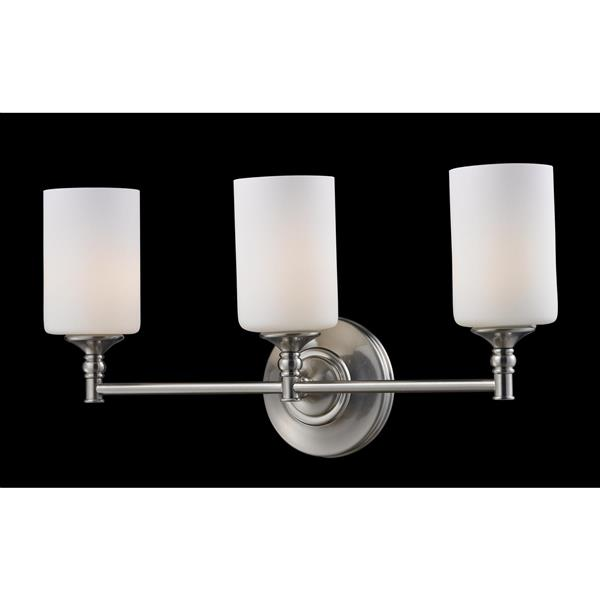 Z-Lite Cannondale 3-Light Brushed Nickel Vanity Light