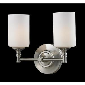 Z-Lite Cannondale 2-Light Brushed Nickel Vanity Light