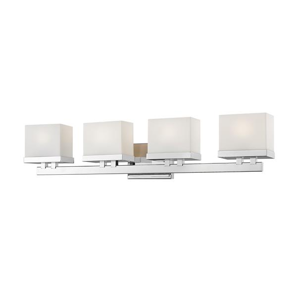 Z-Lite Rivulet 4.75-in x 6.75-in Chrome 4-Light LED Vanity Light