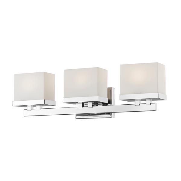 Applique pour salle de bain Rivulet, 3 lumières, chrome