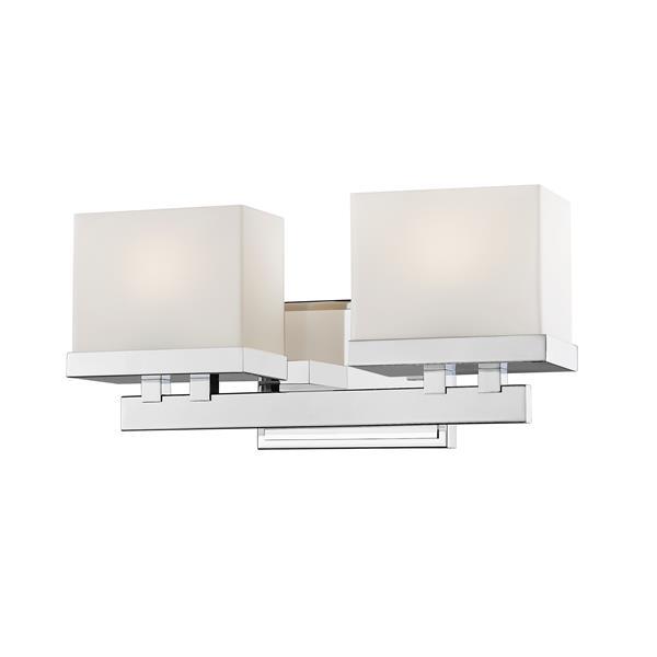 Z-Lite Rivulet 4.75-in x 6.75-in Chrome 2-Light LED Vanity Light