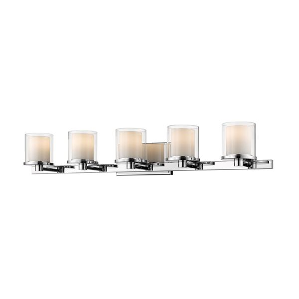 Z-Lite Schema 6.4-in x 6-in Chrome 5-Light LED Vanity Light
