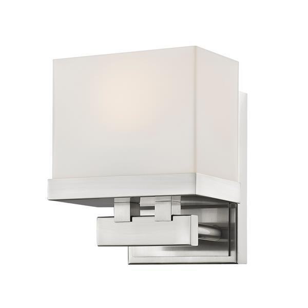 Z-Lite Rivulet 4.75-in x 6.75-in Brushed Nickel 1-Light LED Vanity Light