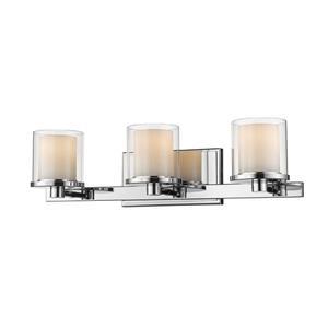 Applique pour salle de bain Schema, 3 lumières, chrome