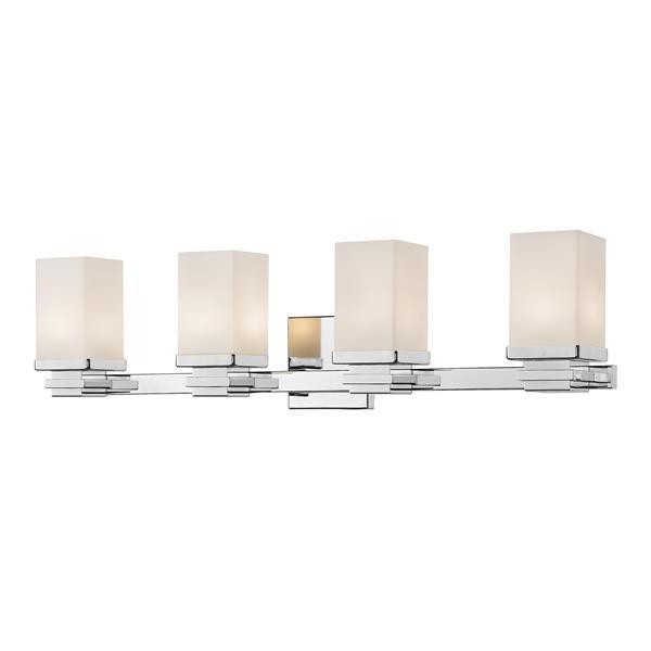 Applique pour salle de bain Avige, 4 lumières, chrome