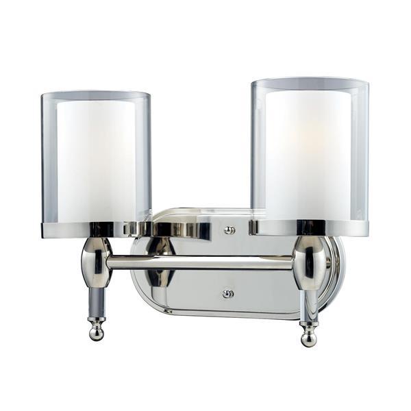 Applique pour salle de bain Argenta, 2 lumières, chrome
