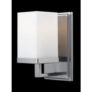 Applique pour salle de bain Tidal, 1 lumière, nickel brossé