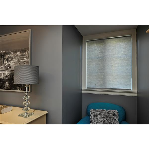Sun Glow 40-In x 72-In Grey Woven Roller Shade