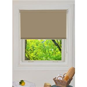 Sun Glow 74-in x 72-in Fawn Motorized Translucent Roller Shade