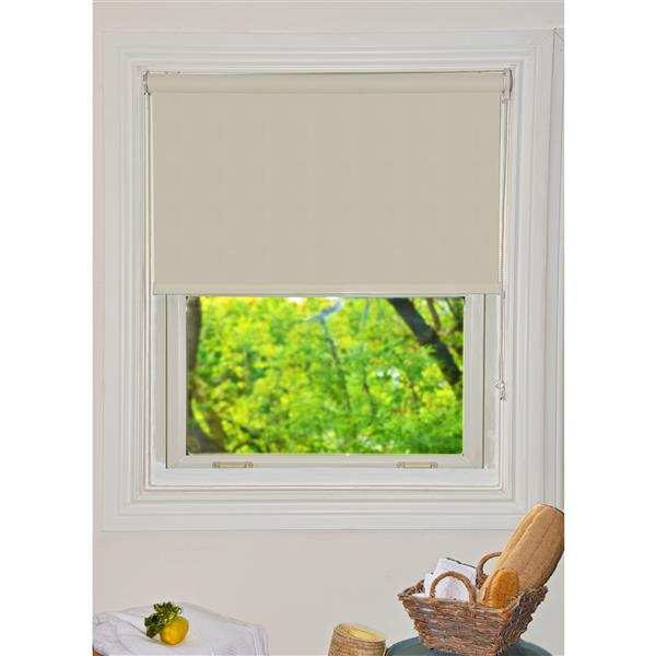Sun Glow Translucent Roller Shade 29-in x 72-in Creamy/Off-White