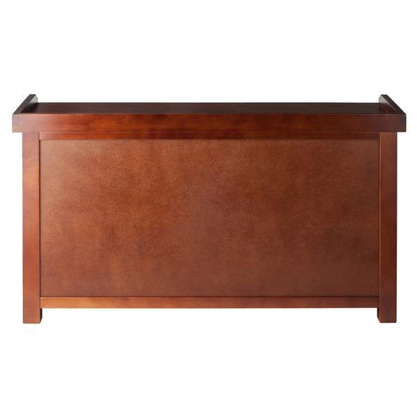 Winsome Wood Milan 22-In x 40-In x 14.17-In Antique Walnut Wooden Indoor Storage Bench