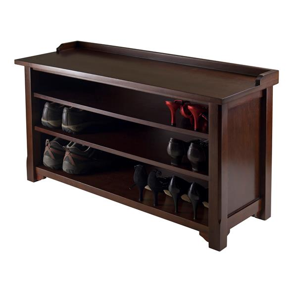 Winsome Wood Simpli Home Dakota 50-Lbs 29.50-In x 48-In x 18-In Dark Brown
