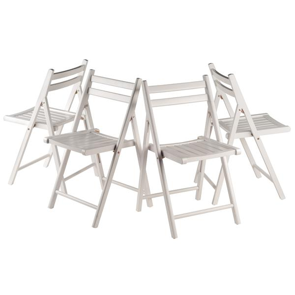 Winsome Wood Robin 17.4-in White Folding Chair (Set of 4)