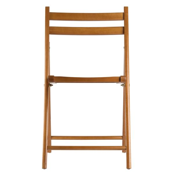 Winsome Wood Robin 17.4-in Brown Folding Chair (Set of 4)