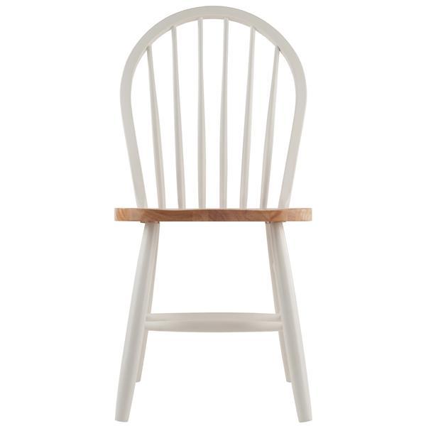 """Chaises Windsor 16,69"""", blanc, ens. de 2"""