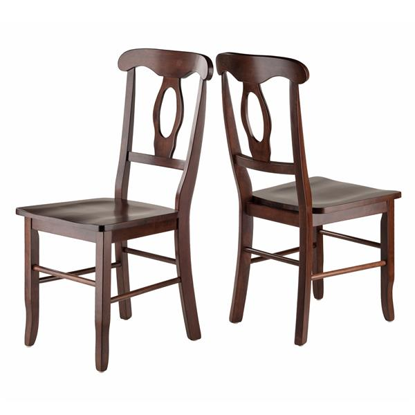 Winsome Wood Zuo Moder Renaissance Back 17.91-in Walnut Dining Chair (Set of 2)
